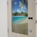 Tahiti - all of our boarding suites come with a scenery wall to help your pet feel like they are truly on vacation.